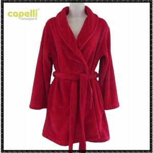 CAPELLI NY Robe S Red THICK PLUSH Thigh Length